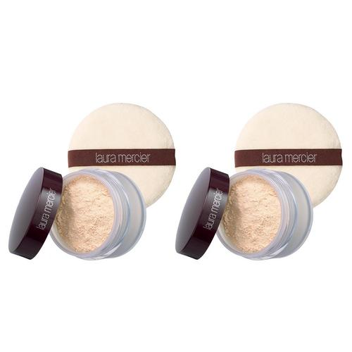 LAURA MERCIER- Set to Go: Translucent Loose Setting + Velour Puff Duo