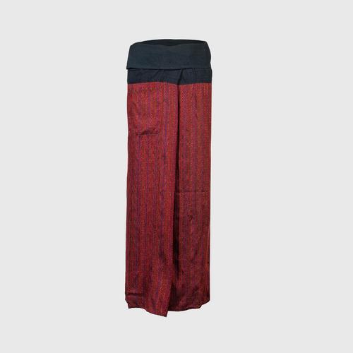 WANPEN THAISILK - Silk Pants Hole pattern Free size
