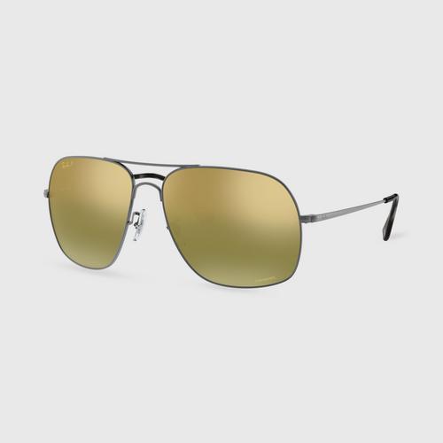 RAYBAN Matte Gunmetal Male Sunglass
