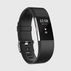 FITBIT Charge2 Heart Rate+ Fitness Wristband 大型 - 黑色