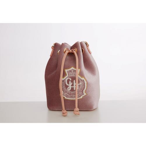 CHATO STUDIO  Velvet Mini Bucket Pink  W10 x L13 x 17 cm.