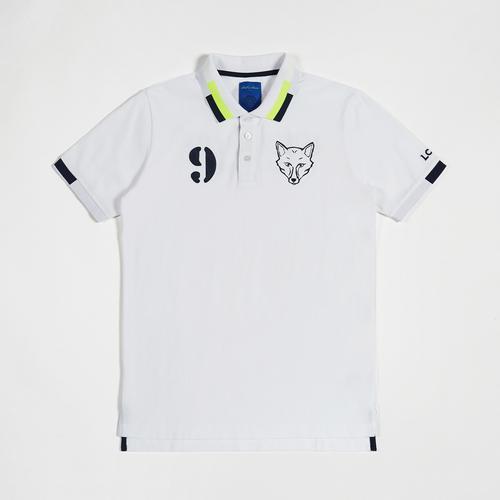 Leicester City Football Club Boll & Rava Fox Logo White Polo Shirt size S