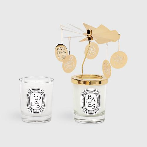 Diptyque Box carousel two candles 70g Berries and Roses