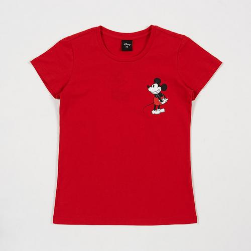 Disney Teen Women T-Shirt Mickey Red-XS