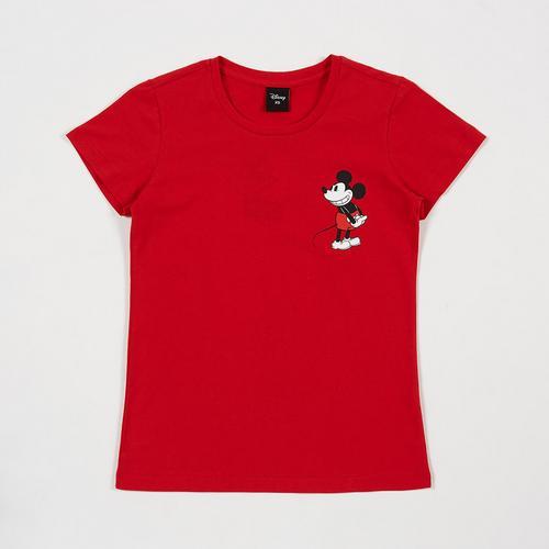 迪士尼 (Disney) 米老鼠女青少年T恤  红色 - M码