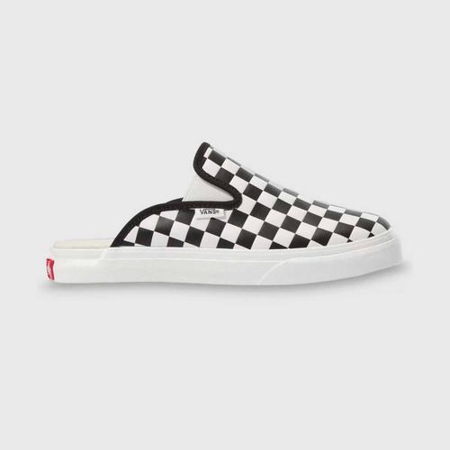 VANS MULE SF (LEATHER CHECKERBOARD) BLACK/WHITE size 10 us