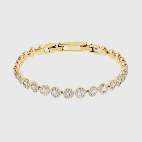 SWAROVSKI Angelic Bracelet, White, Gold-tone plated - Size M