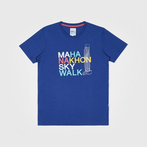 Mahanakhon Skywalk Skywalk T-Shirt Blue Size  S