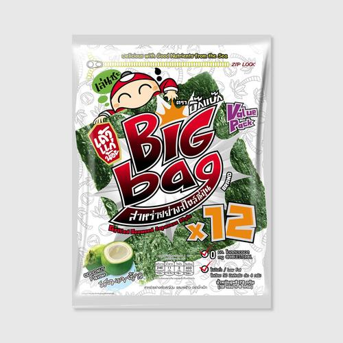 Taokaenoi Grilled Seaweed Coconut Flavour (Big Bag Brand)
