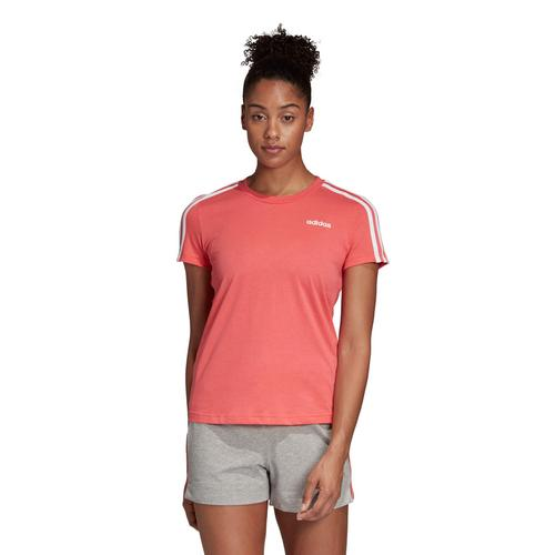 ADIDAS WOMEN ESSENTIALS 3-STRIPES SLIM TEE - SIZE XS