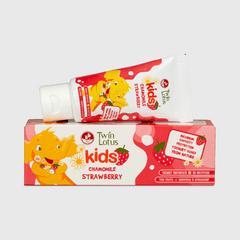 双莲优乳益齿儿童牙膏50克 (草莓&洋甘菊)