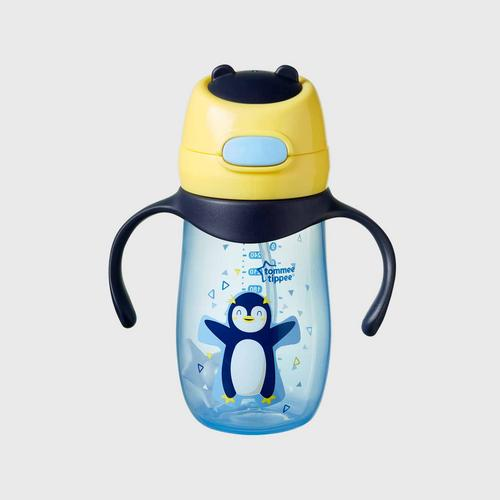 TOMMEE TIPPEE  Weighted Straw 2 Handle Cup - blue