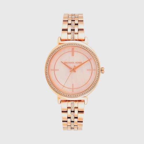 MICHAEL KORS Cinthia Analog Rose Gold Stainless Steel Watch