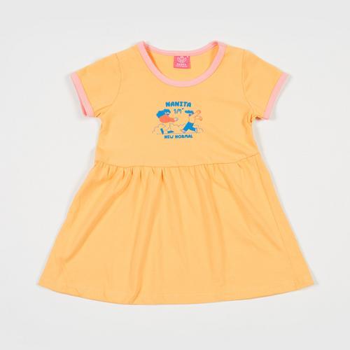NANITA Kids Clothes : Dress DG001 - Yellow - M