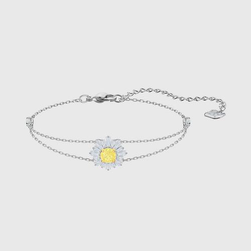 SWAROVSKI Sunshine Bracelet, White, Rhodium plated - Size M