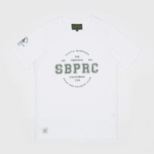 SANTA BARBARA T Shirt - WHITE - Size  S