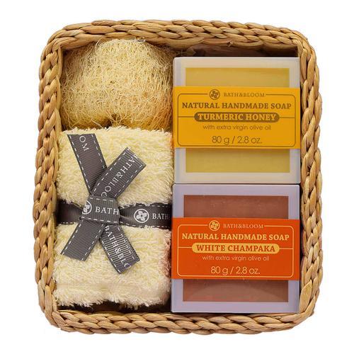 BATH&BLOOM 木兰花和浓蜂蜜香皂套装