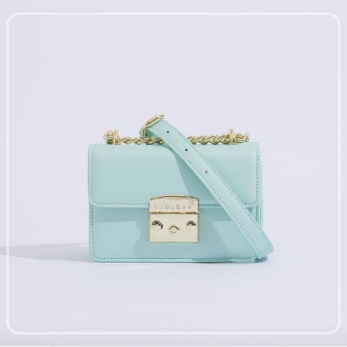 BUBUBEE BON BON BOX BAG (MINT) W17 x H12 x D8.5 CMS