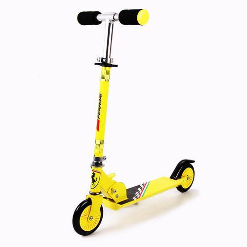 Mesuca Ferrari Kid 2 Wheels Scooter Yellow