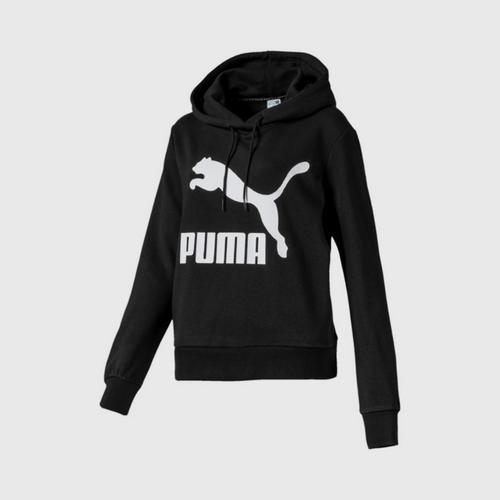 PUMA Women's Hoody Classics Logo Puma Black Size XS UK