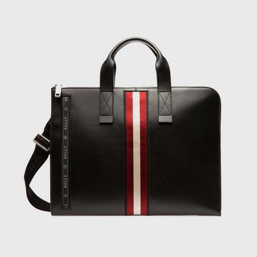 BALLY Henri Leather Business Bag In Black