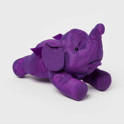 "SUNSANEE Flying Solid Silk Elephant Doll 2"" - VIOLET"