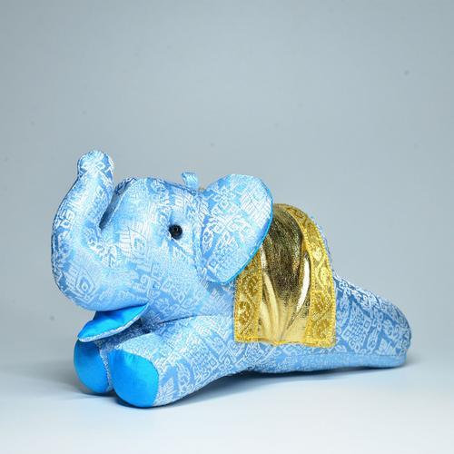 KACHA Elephant Doll Size S 7 x 17 x 9 cm. BLUE