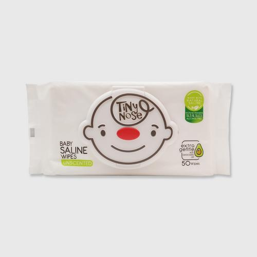 TINYNOSE BABY SALINE WIPES UNSCENT 50 SHEETS