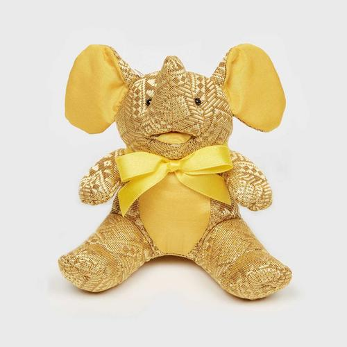 SUNSANEE Sitting Yokdok Silk Elephant Doll 2""