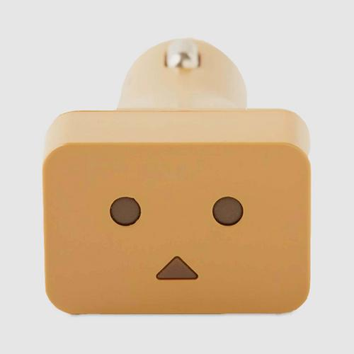 Cheero Danboard Car Charger - Light Brown