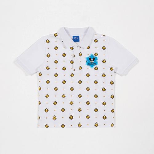 迪士尼 (Disney) 泰国专属米老鼠 Sawadee 男童Polo衫  白色 - XL码