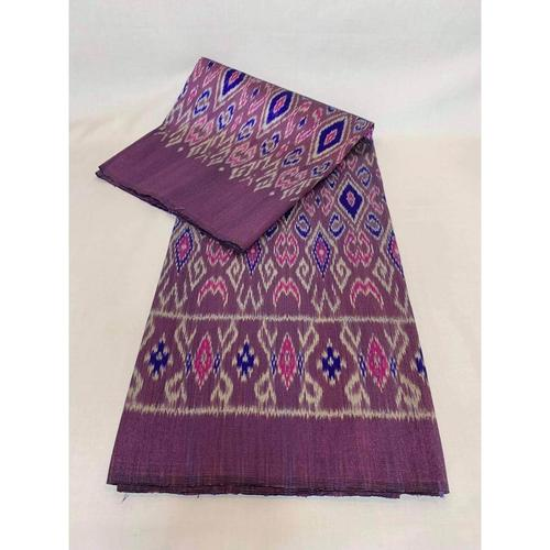 GOLD SILK -  Mudmee silk, ancient pattern, purple and pink, size 1x2 m.