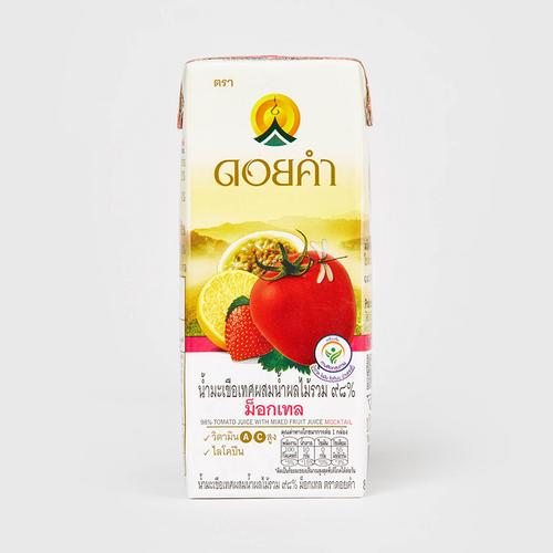 DOI KHAM 98% TOMATO JUICE WITH MIXED FRUIT JUICE 200ML
