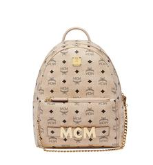 MCM BACKPACK SMALL BEIGE - BEIGE
