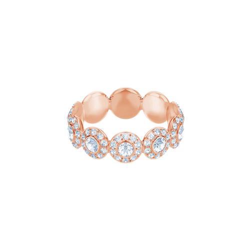 SWAROVSKI Angelic Ring, White, Rose gold plating-Size 52