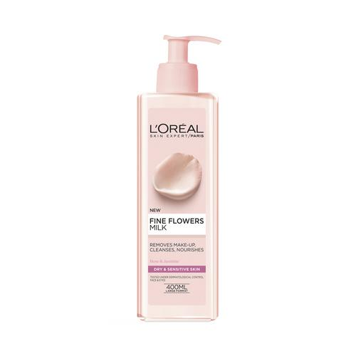 L'OREAL PARIS - SKIN EXPERT - FINE FLOWERS MILK - 400ml -卸妆乳