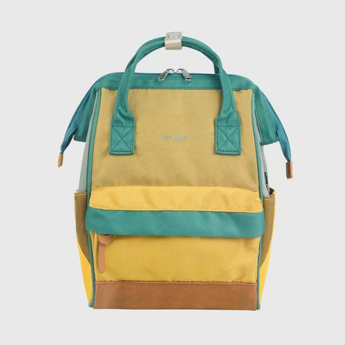 ANELLO OS-S056-NOSTALGIC Mouthpiece Small Backpack-BROWN