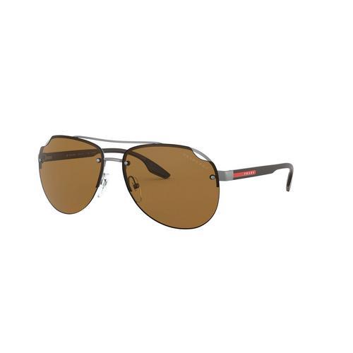PRADA SPORT Matte Gunmetal Metal Sunglasses 0PS 52VS7CQ5Y161