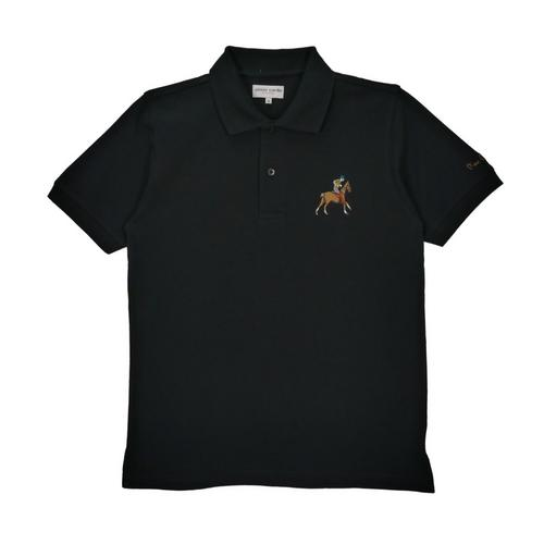 PIERRE CARDIN Knitted Polo Shirt Black - Size M