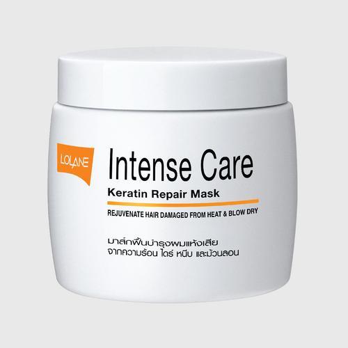 Lolane Intense Care Keratin Repair Mask - Rejuvenate Hair Damaged from Heat&Blow Dry 200g.