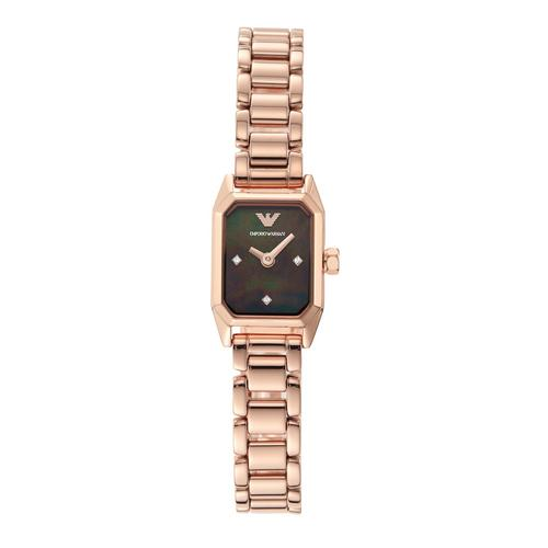 EMPORIO ARMANI Gioia Analog Rose Gold Stainless Steel Watch