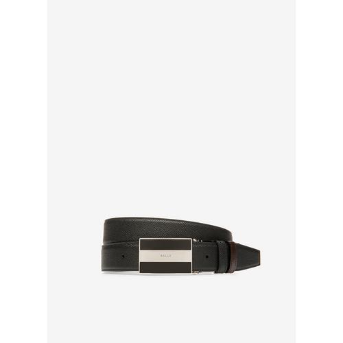 BALLY BOGART - Leather Adjustable & Reversible 35mm Belt In Black & Brown / 110 CMs.