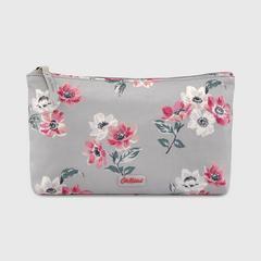 Cath Kidston Matt Zip Cosmetic Bag Small Anemone Bouquet Grey