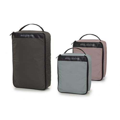 MOLESKINE Journey Set Of 3 Luggage Organizers