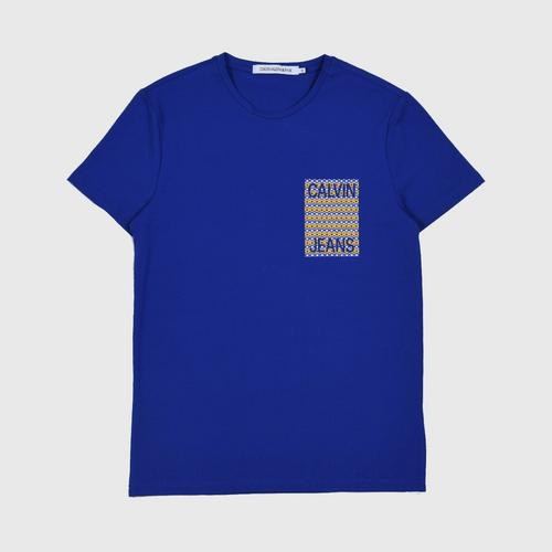 CALVIN KLEIN Star Logo Print Tee Surf Size S