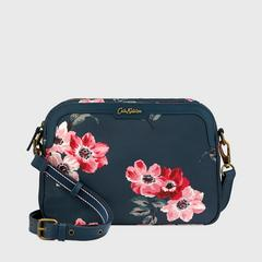 Cath Kidston Aster Cross Body Anemone Bouquet Midnight Blue