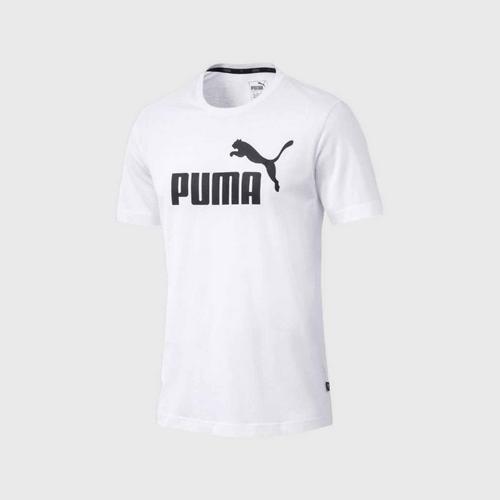 PUMA ESS Logo Tee - White Size S UK