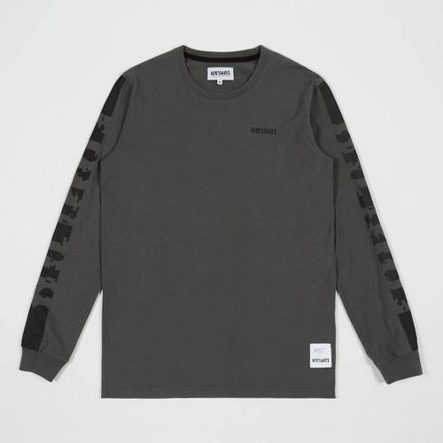 MAHANAKHON Typo Long Sleeves T-shirt  Grey S