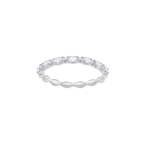 SWAROVSKI Vittore Marquise Ring, White, Rhodium plating-Size 50