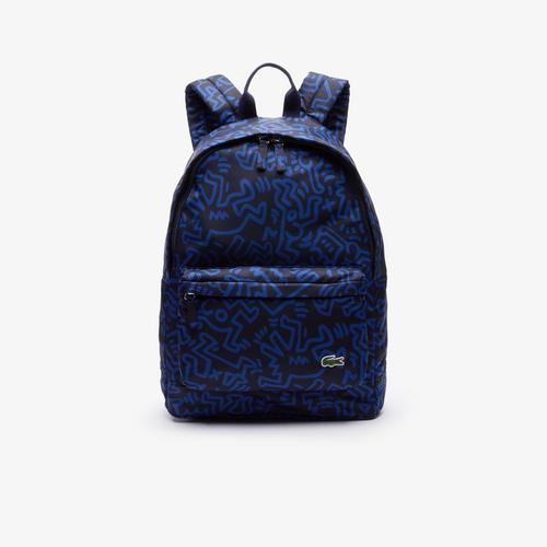 LACOSTE Men's Keith Haring Print Canvas Backpack - Kh Peacoat Sodalite